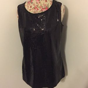 Very Vollbrach woman's large sequined top holiday